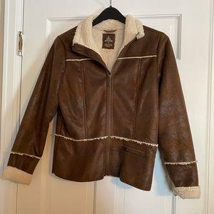 Faux Suede/Faux Shearling Prana Jacket